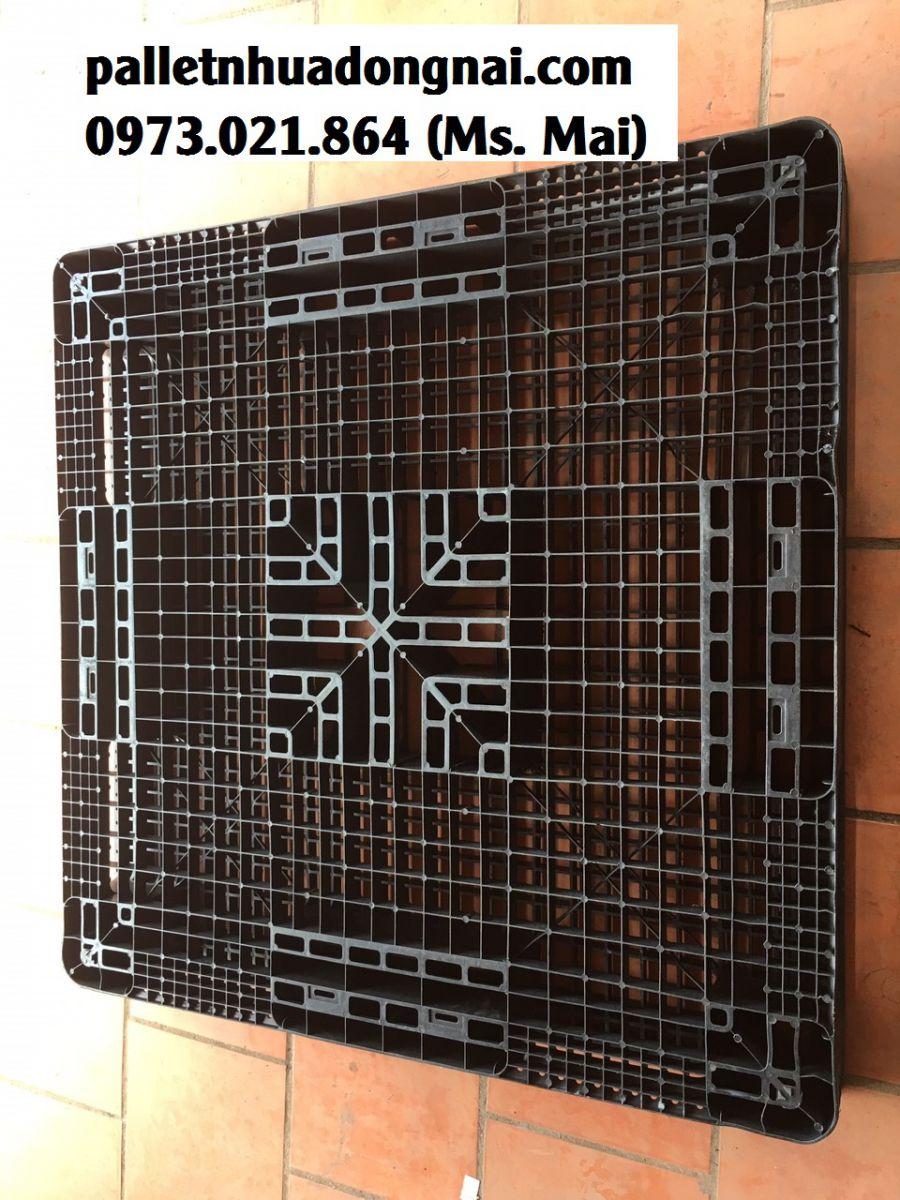 pallet nhựa hai mặt kích thước 1100x1100x120mm